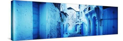 Narrow Streets of the Medina are All Painted Blue, Chefchaouen, Morocco--Stretched Canvas Print