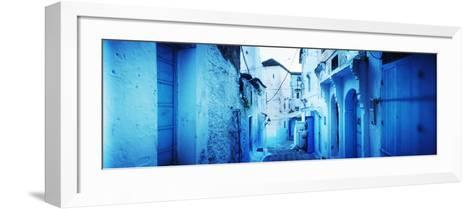 Narrow Streets of the Medina are All Painted Blue, Chefchaouen, Morocco--Framed Art Print