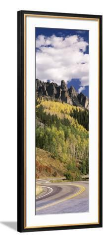 Winding Road Passing Through Mountains, Jackson Guard Station, Ridgway, Colorado, USA--Framed Art Print