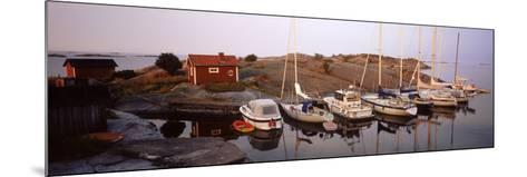 Sailboats on the Coast, Stora Nassa, Stockholm Archipelago, Sweden--Mounted Photographic Print