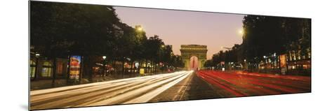 Traffic on the Road, Avenue Des Champs-Elysees, Arc De Triomphe, Paris, Ile-De-France, France--Mounted Photographic Print