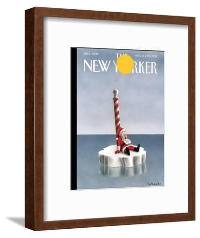 The New Yorker Cover - August 13, 2012-Ian Falconer-Framed Art Print