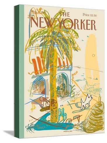 The New Yorker Cover - August 7, 1995-Javier Mariscal-Stretched Canvas Print