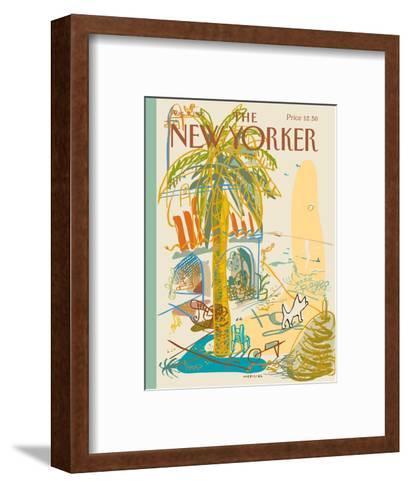 The New Yorker Cover - August 7, 1995-Javier Mariscal-Framed Art Print