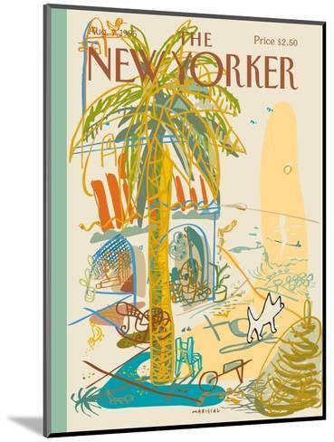 The New Yorker Cover - August 7, 1995-Javier Mariscal-Mounted Premium Giclee Print