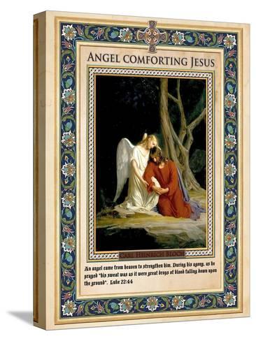 Gethsemane: Angel Comforting Jesus-Carl Bloch-Stretched Canvas Print
