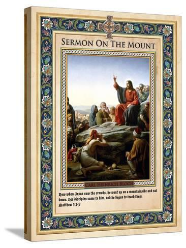 Sermon on the Mount-Carl Bloch-Stretched Canvas Print