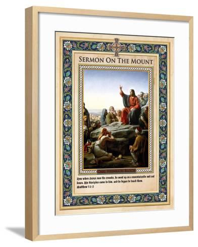 Sermon on the Mount-Carl Bloch-Framed Art Print