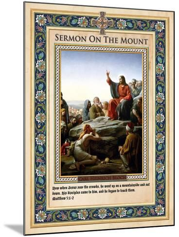 Sermon on the Mount-Carl Bloch-Mounted Giclee Print