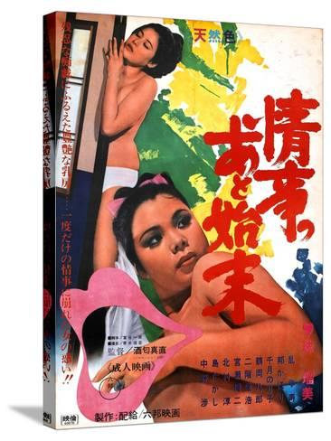 Japanese Movie Poster - The Washing Up after a Love Affair--Stretched Canvas Print