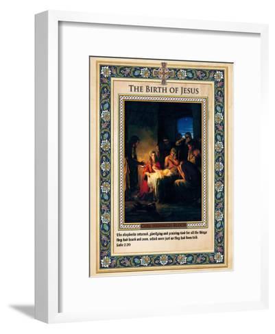 The Birth of Jesus-Carl Bloch-Framed Art Print