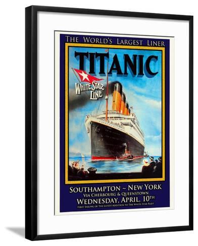 Titanic White Star Line Travel Poster 1-Jack Dow-Framed Art Print