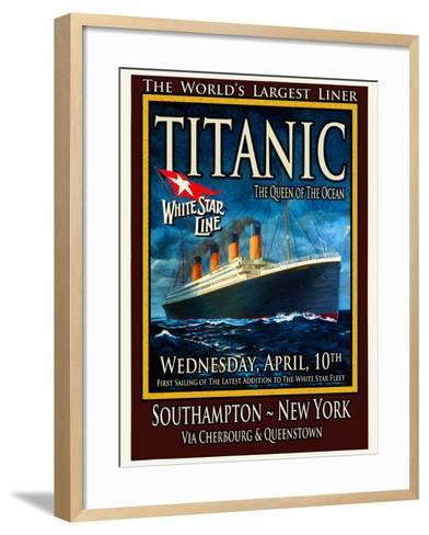 Titanic White Star Line Travel Poster 2-Jack Dow-Framed Art Print
