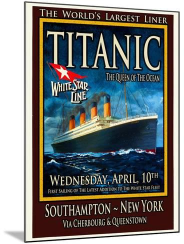 Titanic White Star Line Travel Poster 2-Jack Dow-Mounted Giclee Print