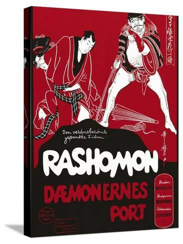 Rashomon, Japanese Movie Poster--Stretched Canvas Print