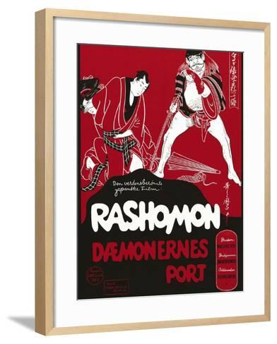 Rashomon, Japanese Movie Poster--Framed Art Print