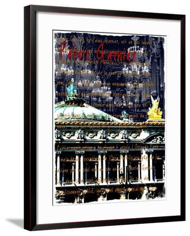 Palais Garnier Paris, Opera House 1-Victoria Hues-Framed Art Print