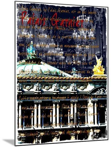 Palais Garnier Paris, Opera House 1-Victoria Hues-Mounted Giclee Print