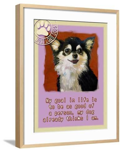 Red Chihuahua-Cathy Cute-Framed Art Print