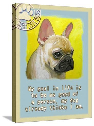 Yelloe French Bulldog-Cathy Cute-Stretched Canvas Print