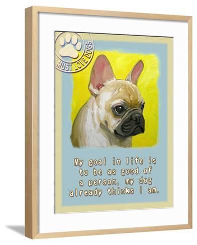 Yelloe French Bulldog-Cathy Cute-Framed Art Print