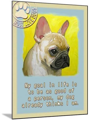 Yelloe French Bulldog-Cathy Cute-Mounted Giclee Print