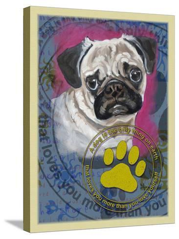 Pug-Cathy Cute-Stretched Canvas Print