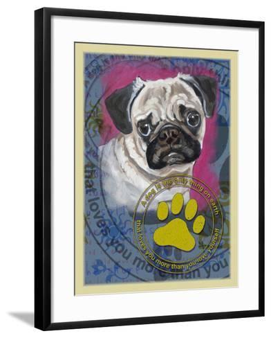 Pug-Cathy Cute-Framed Art Print