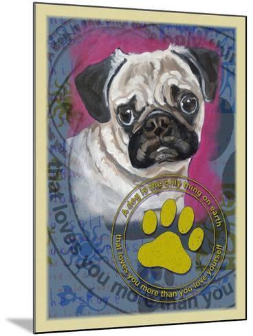 Pug-Cathy Cute-Mounted Giclee Print