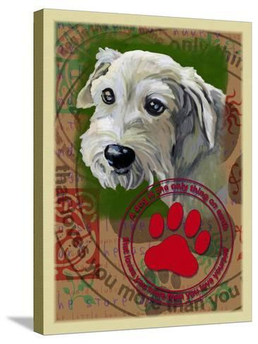 White Terrier-Cathy Cute-Stretched Canvas Print