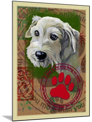 White Terrier-Cathy Cute-Mounted Giclee Print