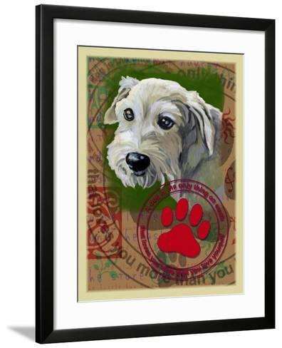 White Terrier-Cathy Cute-Framed Art Print
