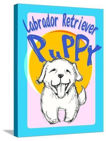 Labrador Retriever Puppy-Cathy Cute-Stretched Canvas Print