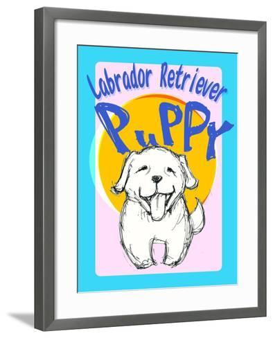 Labrador Retriever Puppy-Cathy Cute-Framed Art Print