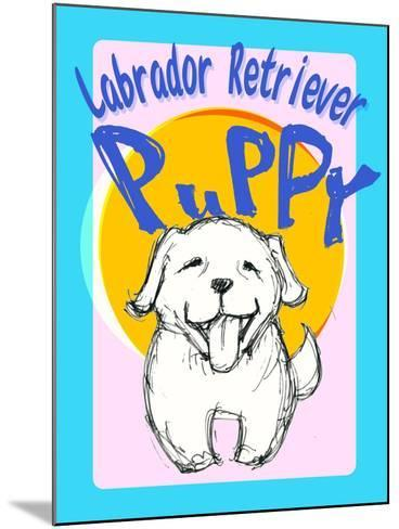 Labrador Retriever Puppy-Cathy Cute-Mounted Giclee Print