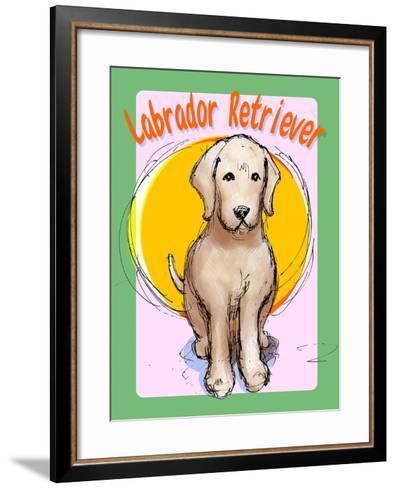 Labrador Retriever 3-Cathy Cute-Framed Art Print