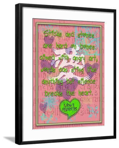 Sticks and Stones are Hard on Bones-Cathy Cute-Framed Art Print