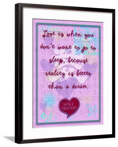 Love Is When You Don'T Want to Go to Sleep-Cathy Cute-Framed Art Print