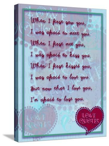When I First Saw You-Cathy Cute-Stretched Canvas Print