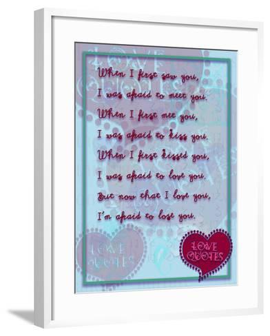 When I First Saw You-Cathy Cute-Framed Art Print