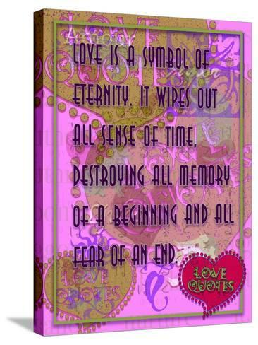 Love Is a Symbol of Eternity-Cathy Cute-Stretched Canvas Print