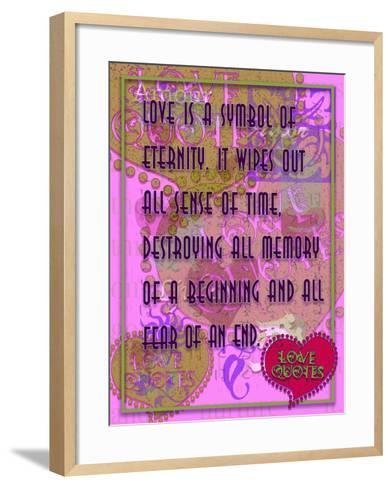 Love Is a Symbol of Eternity-Cathy Cute-Framed Art Print