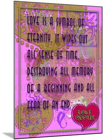 Love Is a Symbol of Eternity-Cathy Cute-Mounted Giclee Print