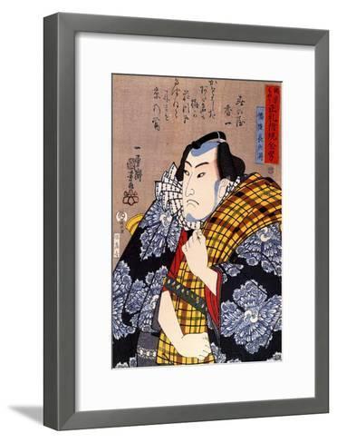 Half Legth Portrait of Bazui Chobel-Kuniyoshi Utagawa-Framed Art Print