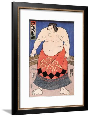 The Sumo Wrestler 2-Kuniyoshi Utagawa-Framed Art Print