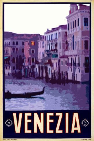Canal in Venice Italy 4-Anna Siena-Stretched Canvas Print