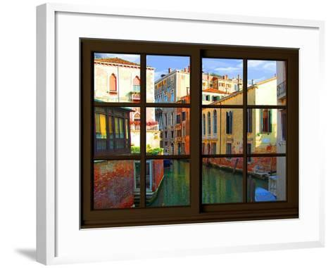 View from the Window at Venice-Anna Siena-Framed Art Print