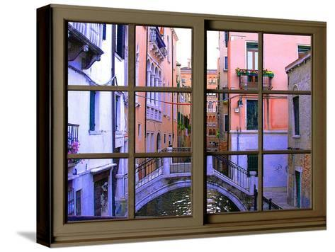 View from the Window over the Canal at Venice-Anna Siena-Stretched Canvas Print