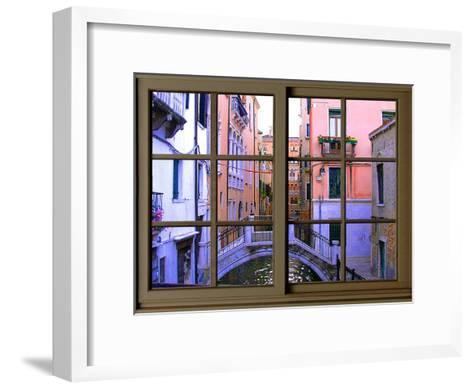 View from the Window over the Canal at Venice-Anna Siena-Framed Art Print