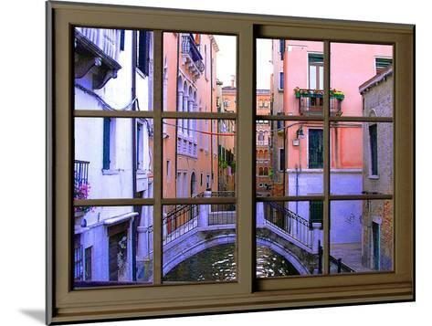 View from the Window over the Canal at Venice-Anna Siena-Mounted Giclee Print